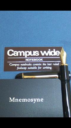 コクヨの キャンパスワイド を使いきりました。 / ノート変更 再び。