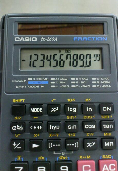 CASIOの標準入力方式関数電卓 / CASIO fx- 260A