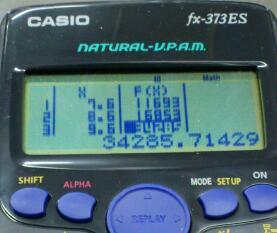 Table 機能 / CASIO fx-373ES