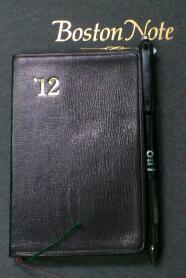 今年のメインの手帳セット / 能率手帳ゴールド小型(黒)