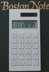 無印良品のハンディ電卓 その2 / 電卓・10桁 白 BO-198