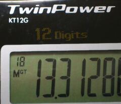 逆数からみた日本の関数電卓の血統 その2 / KT12G