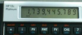 誤差39日? その2 複利計算の続き / hp 12c Platinum
