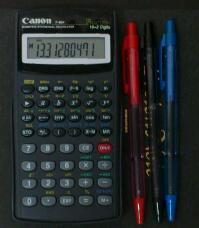 逆数からみた日本の関数電卓の血統 その6 / Canon F-604,PILOT SUPER KNOCK 80
