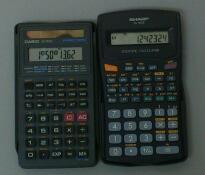 60進と分数とメモリストアからみた標準入力関数電卓 / CASIO fx-260A,SHARP EL-501E と Canon F-604