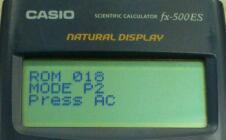 CASIO fx-500ES 自己診断モード / CASIO fx-500ES