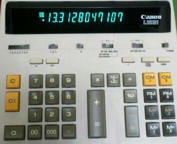 加算器方式の電卓 / Canon L1231