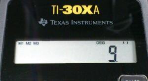 括弧の解釈 3 / TI-30XA