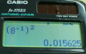 カシオが [ 1/x ] [ x^2 ] を認めない理由を考える.その1