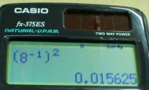 カシオが [ 1/x ] [ x^2 ] を認めない理由を考える.その2 / CASIO fx-375ES