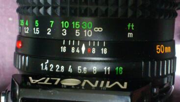 世界一わかりやすい カメラ ミエ講座 第6回【絞り開放】.50mm F 1.4 の絞り値 / minolta MD 50/1.4