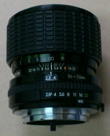 SIGMA  ZOOM - MASTER  1:2.8 ~ 4  f = 35 ~ 70 mm   Φ52  for MD