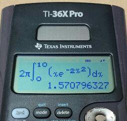 関数電卓 積分の丸め処理考 / TI-36X Pro