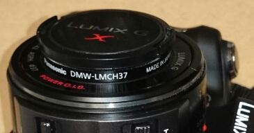 G2 にプロテクタ装着 / DMW-LMCH37