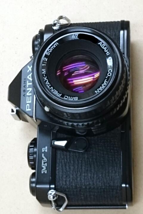 MV1 と 純正レンズ / PENTAX MV1 + smc PENTAX - M 50 / 2