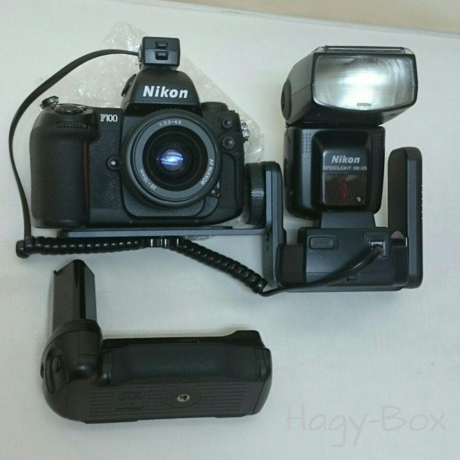 Nikon F100 + パワーブラケット SK-6 + AS-16 + TTL調光コード付きオリジナルセット